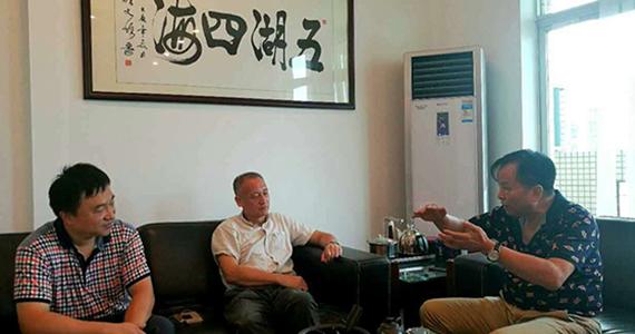 龙乃健会长一行走访协会常务理事单位——广州市泰堡防火材料有限公司